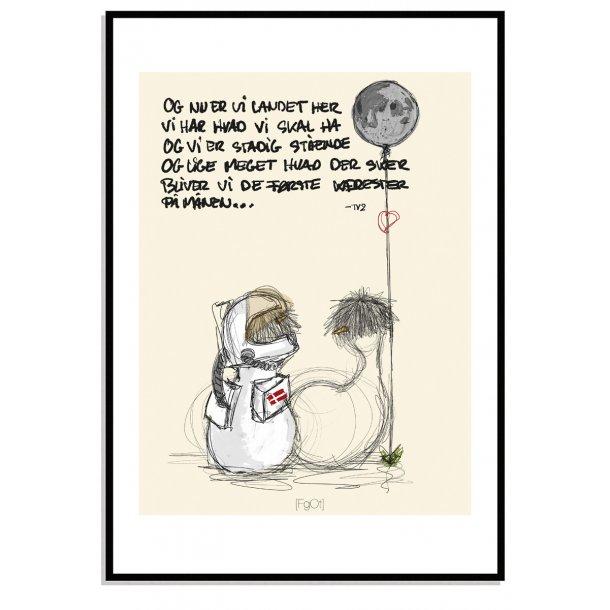 De første kærester på månen.