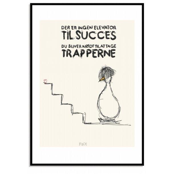 Der er ingen elevator til succes