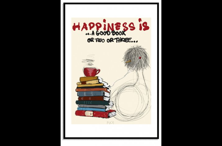 Happiness is a good book + coffee