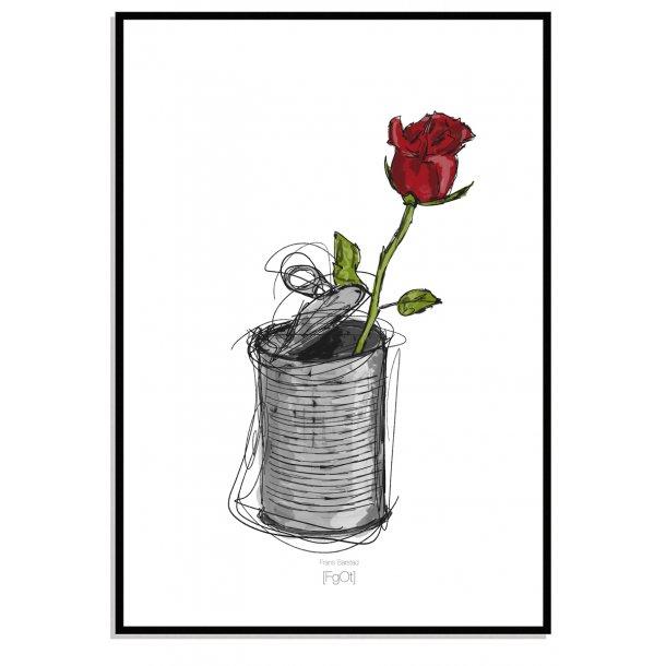 Konservesdåse & rose...
