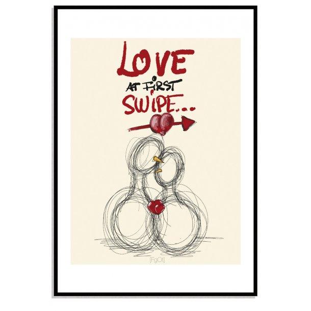 Love at first swipe...