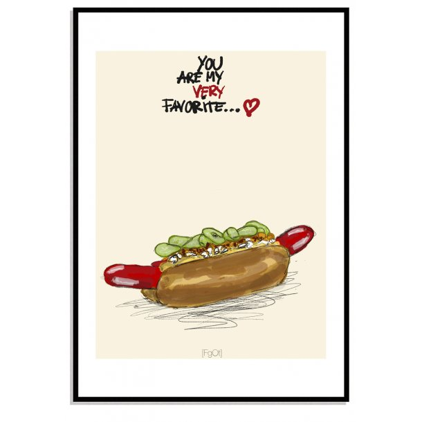 My favorite... Hotdog...