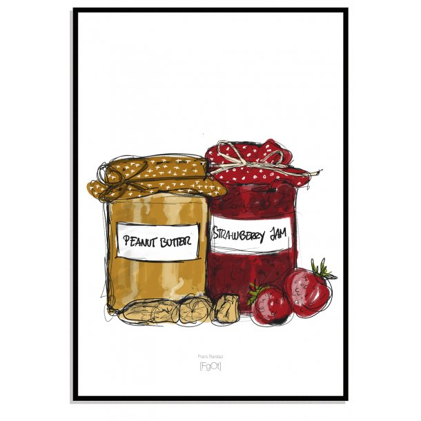 Peanutbutter & Strawberry jam..