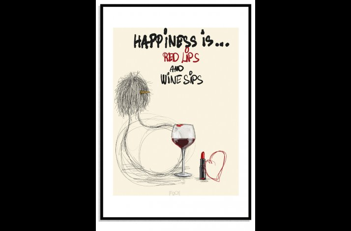 Red lips and wine sips...