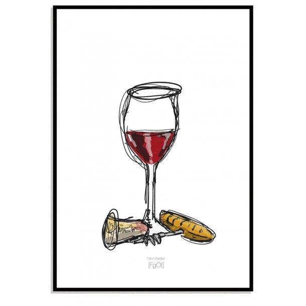 TILBUD... Vin & glas... 2 stk.